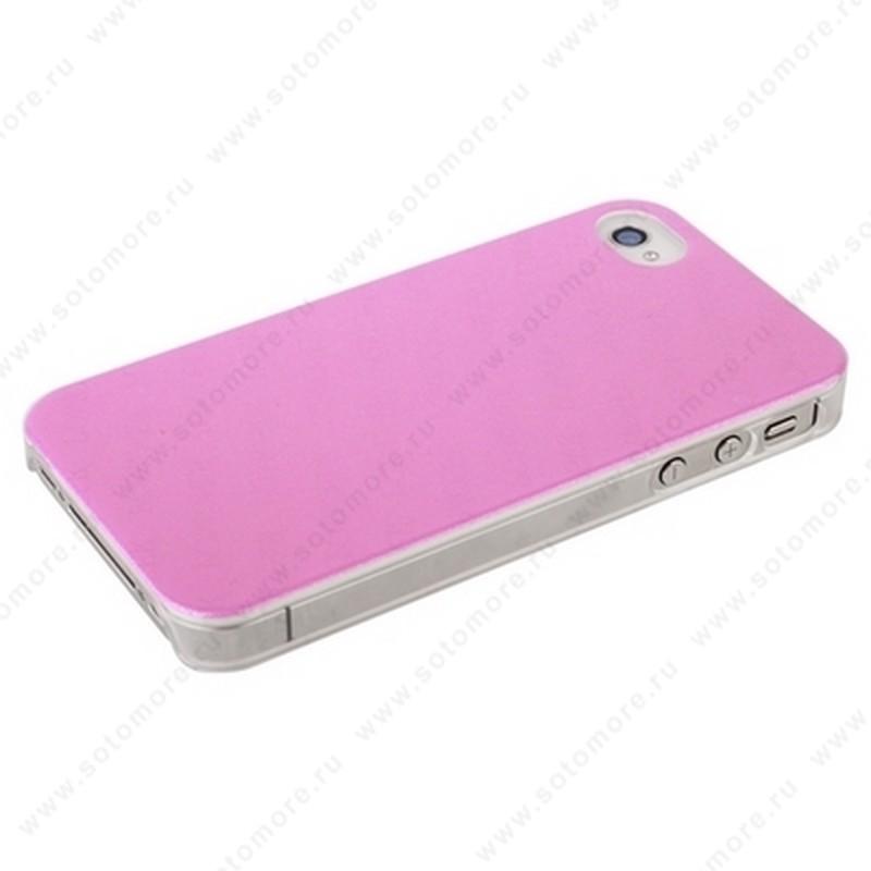 Накладка POMOSER для iPhone 4s/ 4 ярко-розовая