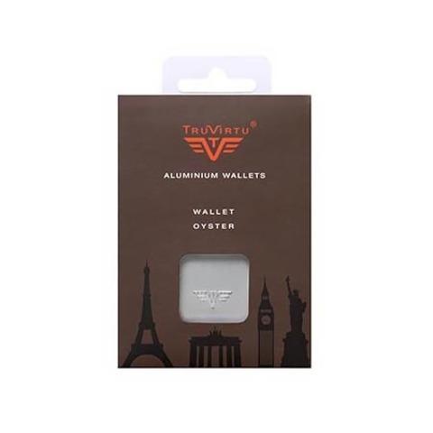 Кошелек c защитой Tru Virtu Oyster, кофейный , 102x70x27 мм