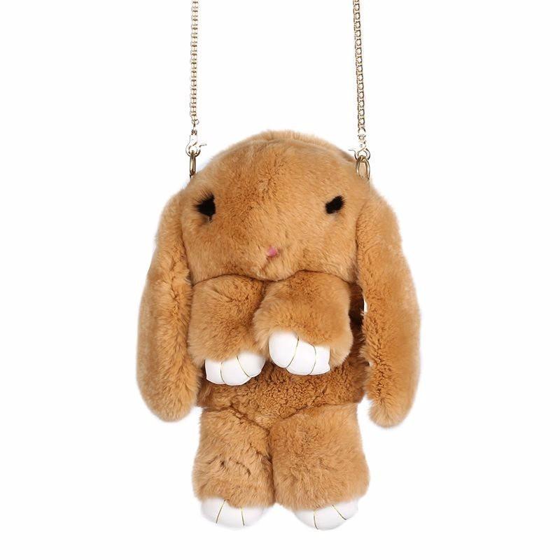 Коричневый вариант цвета сумки кролик