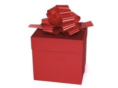 Коробка для подарков «Красная»  12,5 см*12,5 см*12,5 см