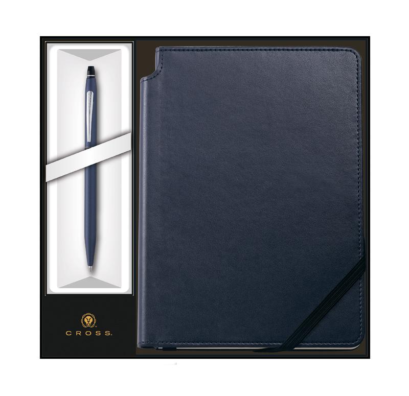 Набор подарочный Cross - Click Midnight Blue, шариковая ручка + записная книжка