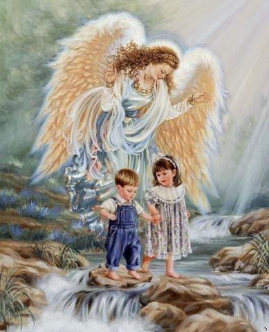 Алмазная Мозаика 40x50 Путешествие с ангелом хранителем