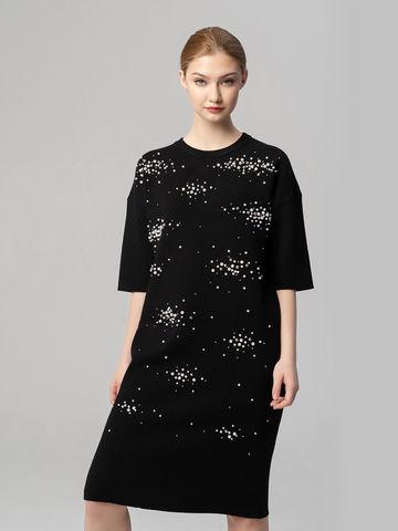 Женское платье черного цвета из вискозы - фото 2