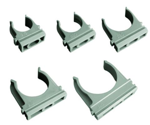 Крепеж-клипса для трубы 20 мм (100шт) TDM