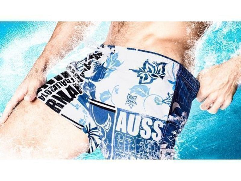 Мужские шорты пляжные синие Aussiebum Scent Coast Shorts Navy
