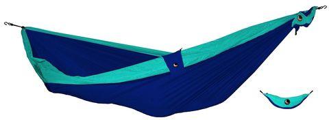 Картинка гамак туристический Ticket to the Moon Compact Hammock Navy - Turquoise