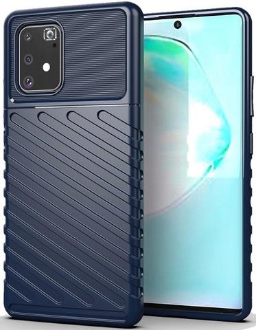 Чехол Samsung Galaxy A91 (M80S) цвет Blue (синий), серия Onyx, Caseport