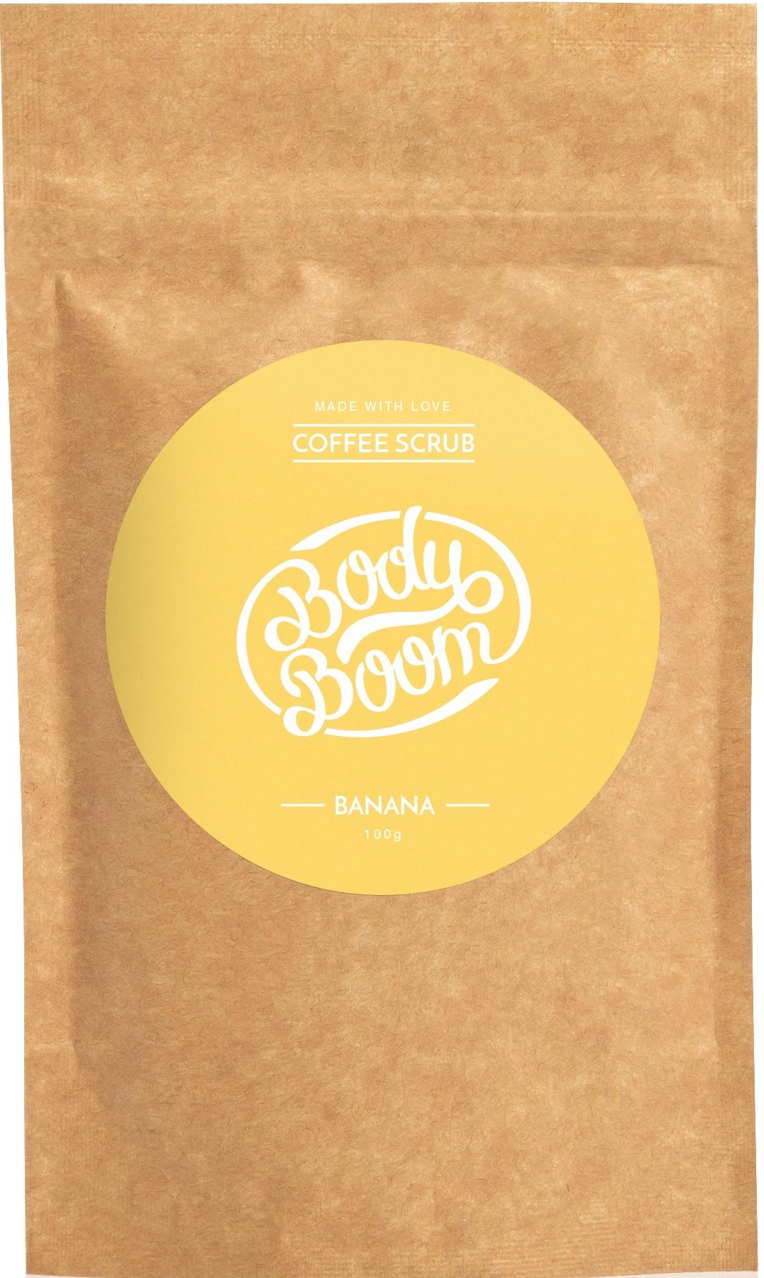 BODY BOOM Кофейный скраб для тела Banana 100г