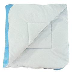 Папитто. Конверт-одеяло велюр с вышивкой, голубой вид 2