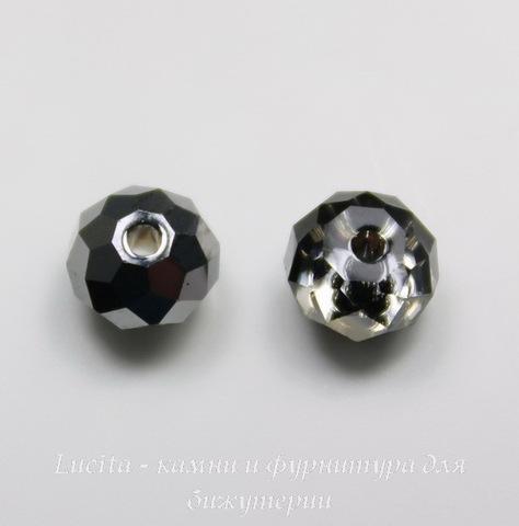 5040 Бусина - рондель с огранкой Сваровски Crystal Silver Night 6 мм ()