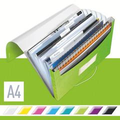 Папка-органайзер Leitz Wow A4 зеленая (6 отделений)