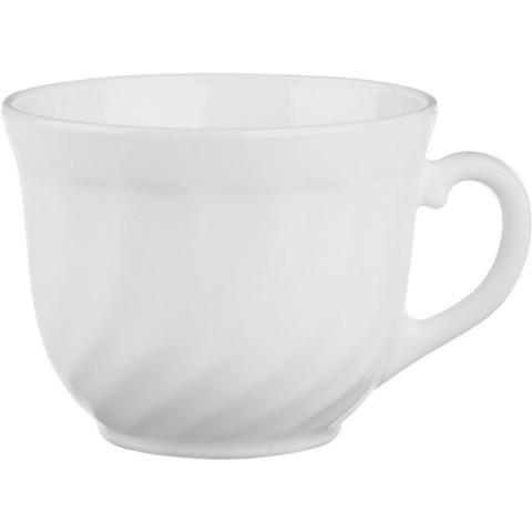 Чашка чайная Luminarc Trianon стеклянная белая 250 мл (артикул производителя D6922)
