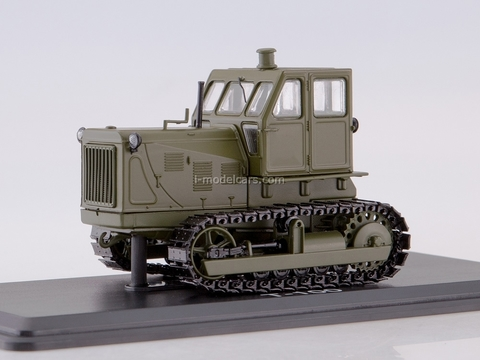Tractor ChTZ-100 metal tracks khaki 1:43 Start Scale Models (SSM)