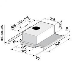 Вытяжка Korting KHP 6313 X схема