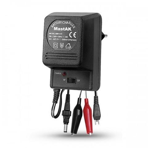ЗУ MastAK MW-660 для свинцово-кисплотных акк. 6V, 12V - 500mAh