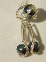 Каука  (кольцо + серьги из серебра)