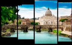 Модульная картина ''Мост Святого Ангела''