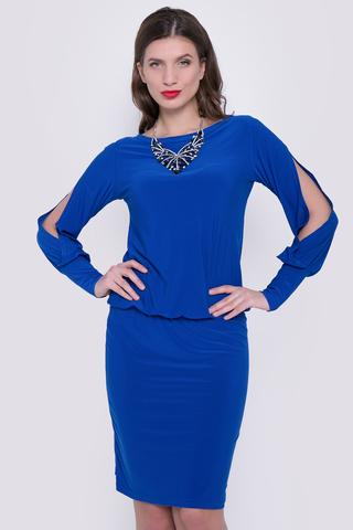 <p>Великолепное нарядное платье удачного покроя, подчеркивающее достоинства Вашей фигуры. Заниженная талия на резинке. (Длина платья: 44р.=104см; 46-50р=106см.)</p>