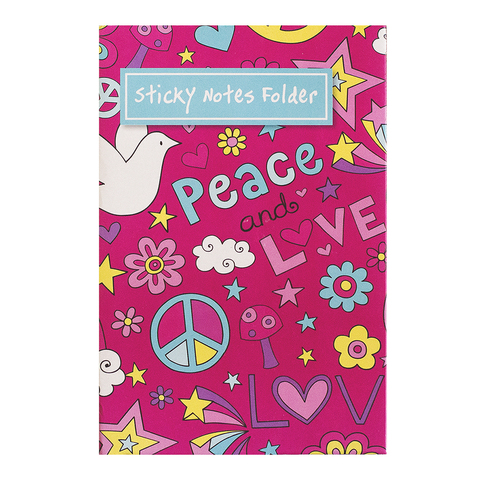 Sticky Notes Folder Peace And Love