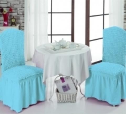Чехлы на стулья (2 шт) цвет бирюзовый