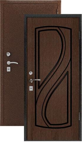 Дверь входная Стандарт стальная, венге, 2 замка, фабрика Владимирская фабрика дверей