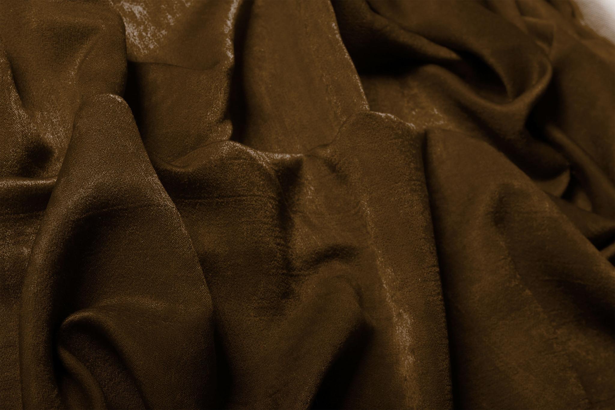 Suede (шоколад). Готовая штора - имитация замши