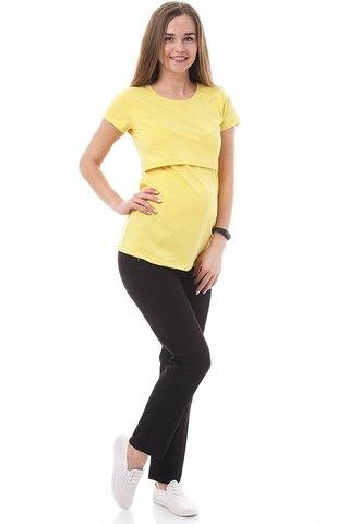 Футболка для беременных и кормящих 09962 ярко-желтый