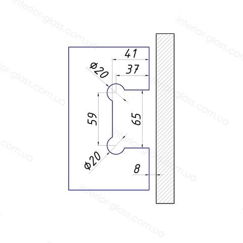 Петля душевая к стене HDL-301 SSS нержавеющая сталь
