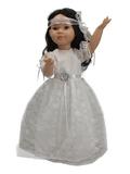 Белое платье - На кукле. Одежда для кукол, пупсов и мягких игрушек.
