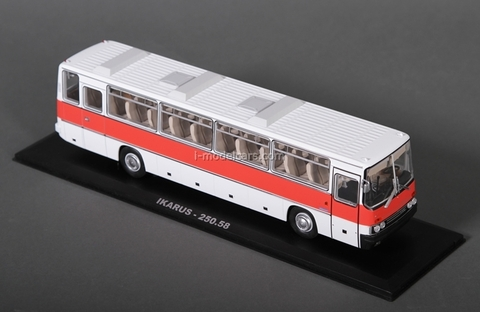 Ikarus-250.58 white-red Classicbus 1:43