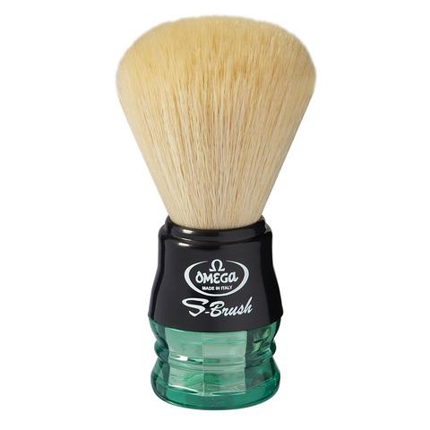 Помазок для бритья Omega синтетика зеленая ручка S10077