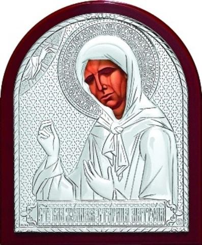 Серебряная икона Святой Блаженной Матроны Московской 11х9см