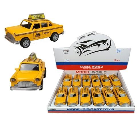 Металлическая машинка Такси Model World WGMR-MET-36 1кор*1бл*12шт