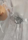 Белое платье - Детали. Одежда для кукол, пупсов и мягких игрушек.