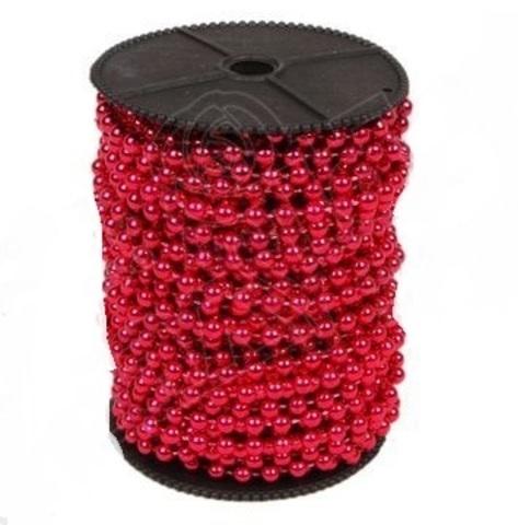 Бусы на бобине (размер: 8мм х 10м) Цвет:красный