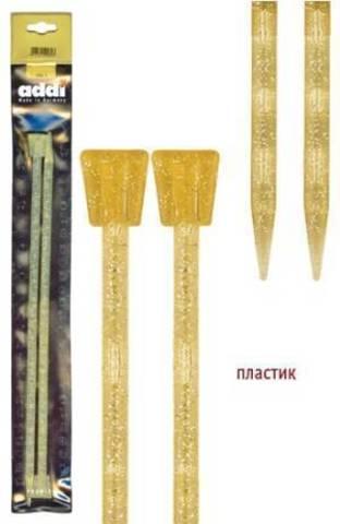 Спицы для вязания Addi прямые 35 см, 8 мм