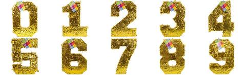 Пиньята цифра золотая