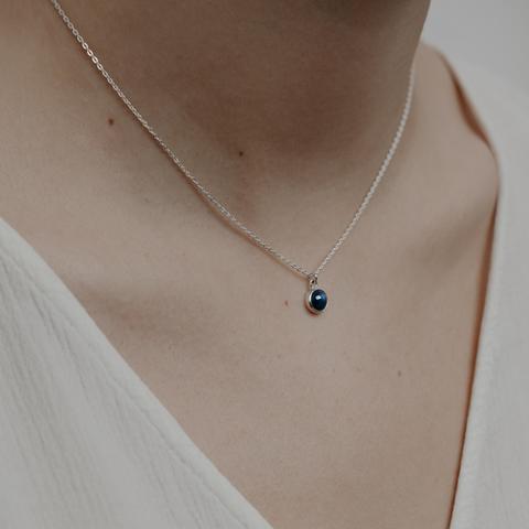 Подвеска ALPHA - Синий звёздчатый сапфир
