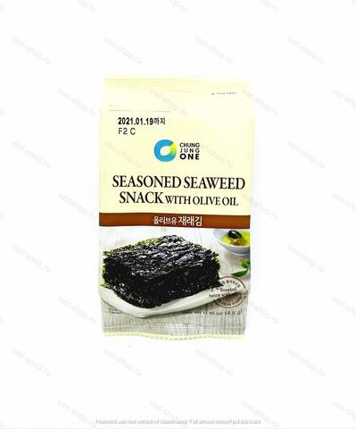 Морская капуста с оливковым маслом Daesang, Корея, 4,5 гр.