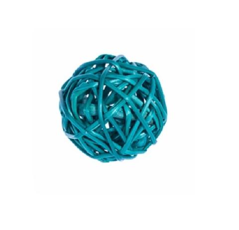 Плетеные шары из ротанга (набор:12 шт., d3см, цвет: бирюзовый)