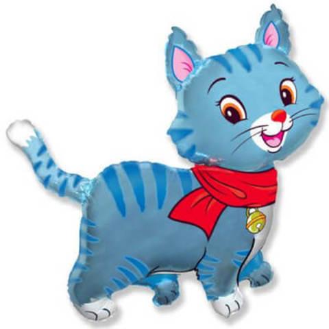 Фигура фольга Кошечка с шарфом