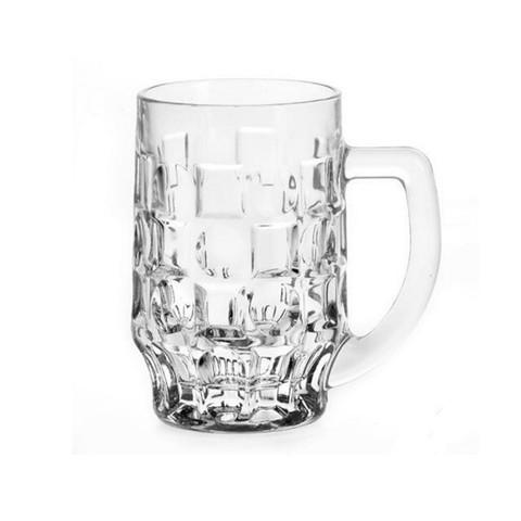 Кружка пивная Pasabahce Pub стеклянная прозрачная 500 мл (артикул производителя 55229SLB)