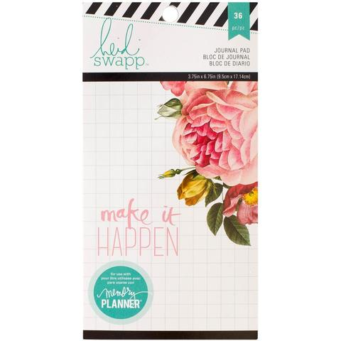 Блокнот для записей Heidi Swapp Memory Planner Journaling Pad 9,5 х18,5 см -36л