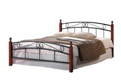 Кровать АТ-8077 200x160 (Queen) Черный/Красный дуб