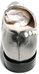 Серебристые туфли Roccol