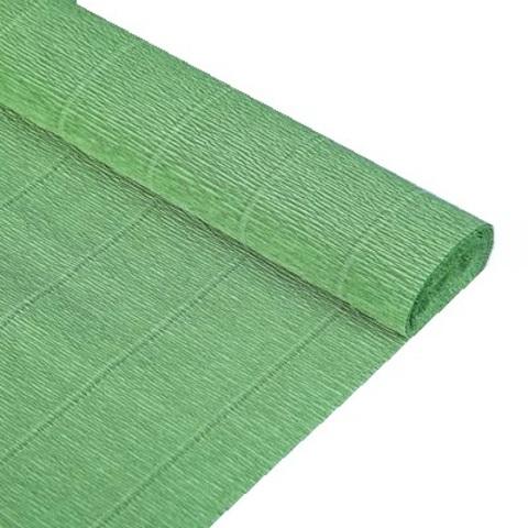 Бумага гофрированная, цвет 565 светло-зеленый, 180г, 50х250 см, Cartotecnica Rossi (Италия)