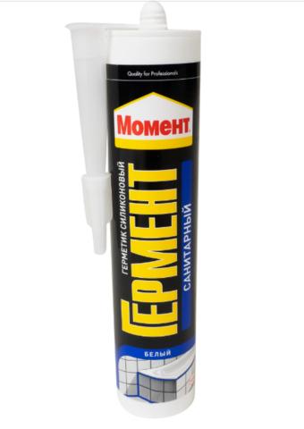 Герметик Момент Гермент санитарный, цвет белый, 280 мл