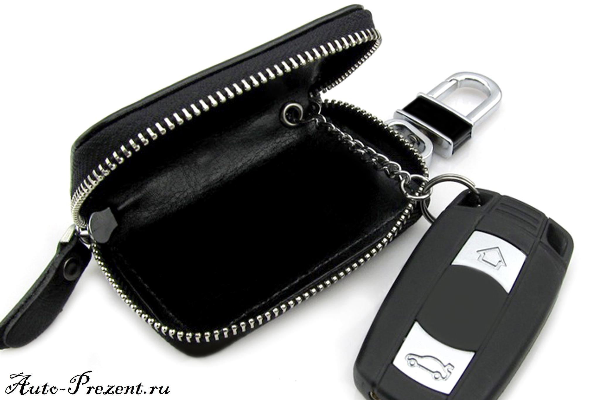 Кожаный чехол для ключа с логотипом MAZDA