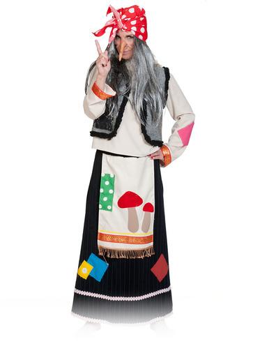 Карнавальный костюм  взрослый Баба Яга нарядная