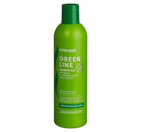 Шампунь для волос и чувствительной кожи головы 300 мл, Concept